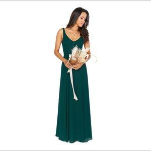 Show Me Your MuMu Jenn Emerald Maxi Dress L fits M